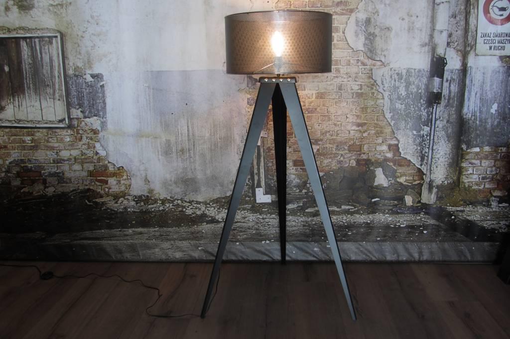 Industriele stalen driepoot lamp industriele tafels