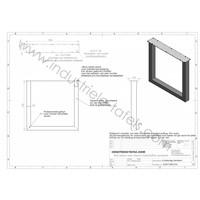 Handgemaakte Industriele tafelpoten model U Standaard WIT