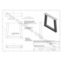 Handgemaakt Industrieel tafelonderstel Trapezium poot Standaard WIT
