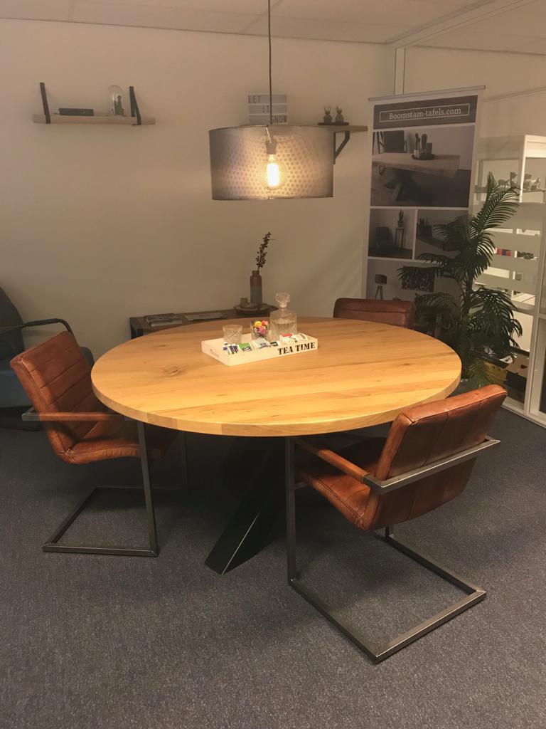 Zware Ronde Eettafel.Blog Ronde Eettafel In Huis Industriele Tafels