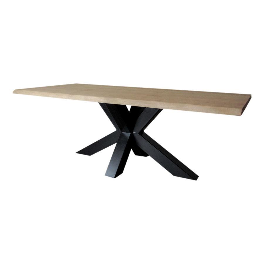 Industriële tafel voorzien van matrix tafelpoot /3d kruispoot