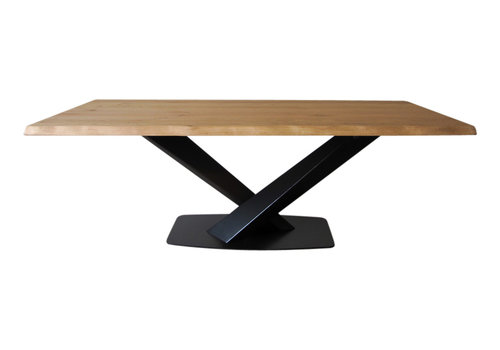 Industriële tafel met Twisted V tafelpoot