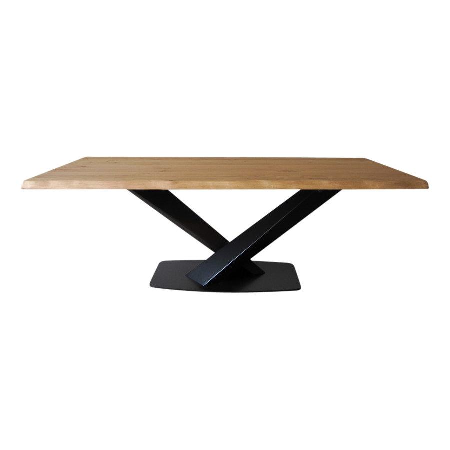Industriële tafel voorzien van tafelonderstel Twisted V tafelpoot