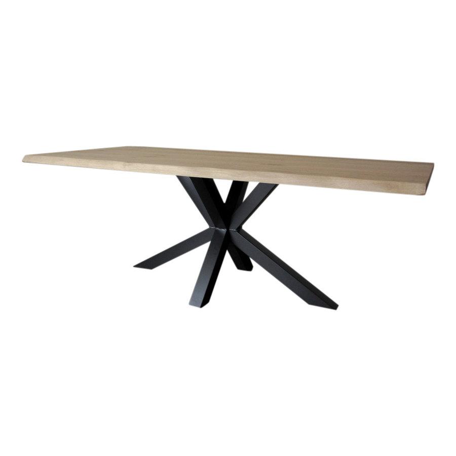 Industriële tafel voorzien van tafelonderstel Matrix light tafelpoot