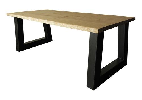 Industriële tafel met zware trapezium tafelpoten