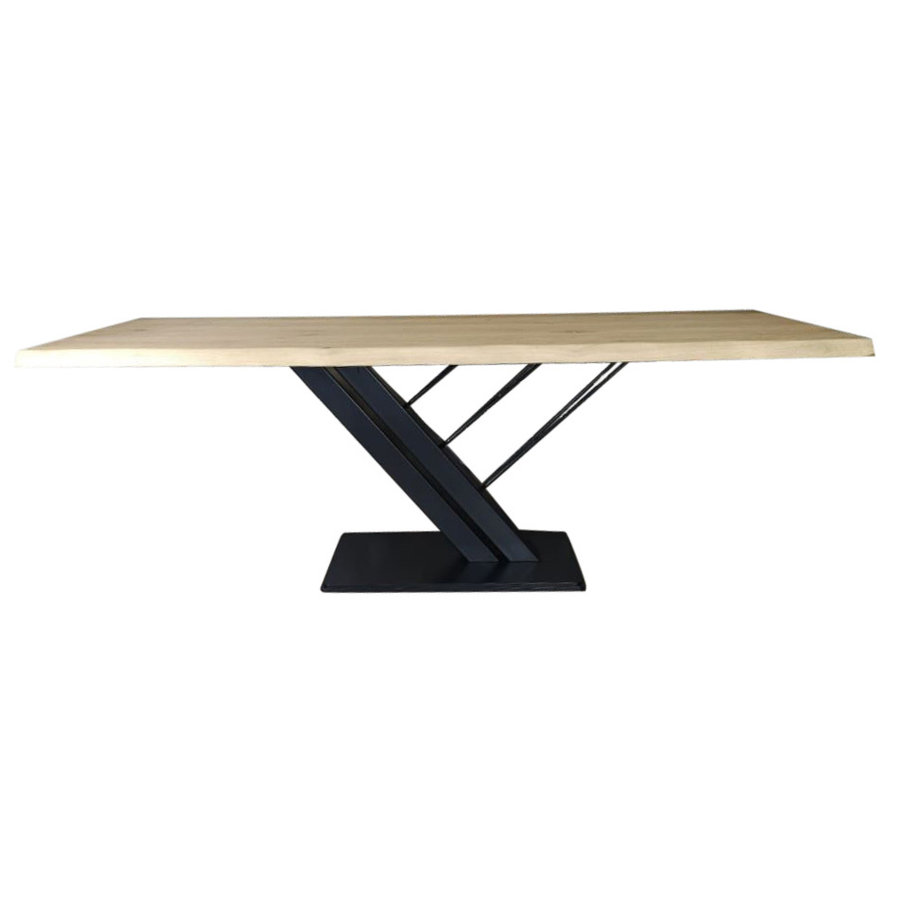 Industriële tafel voorzien van tafelonderstel Harp