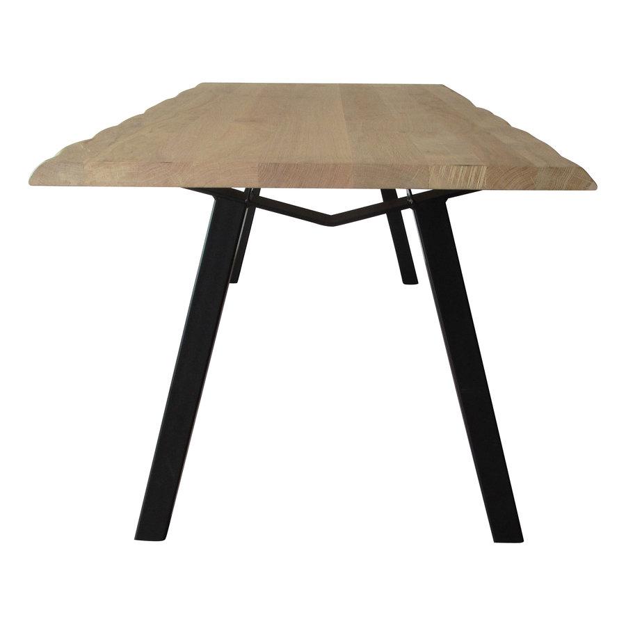 Industriële tafel voorzien van tafelonderstel M tafelpoot