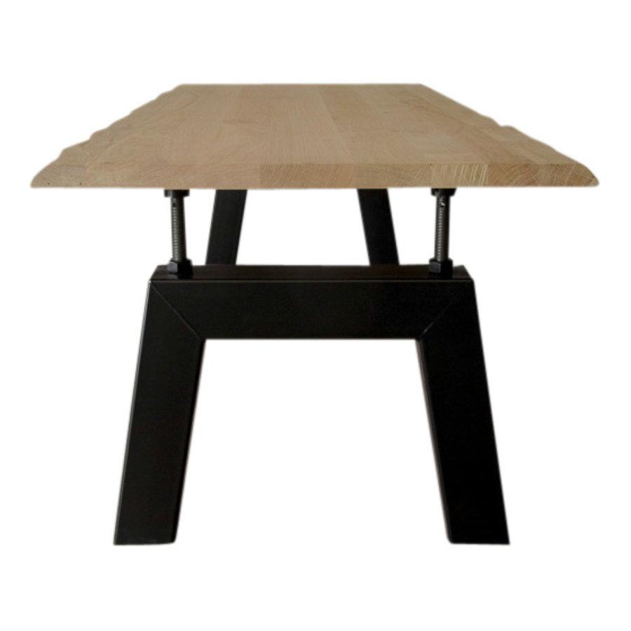 Industriële verstelbare tafel met Bridge tafelpoot