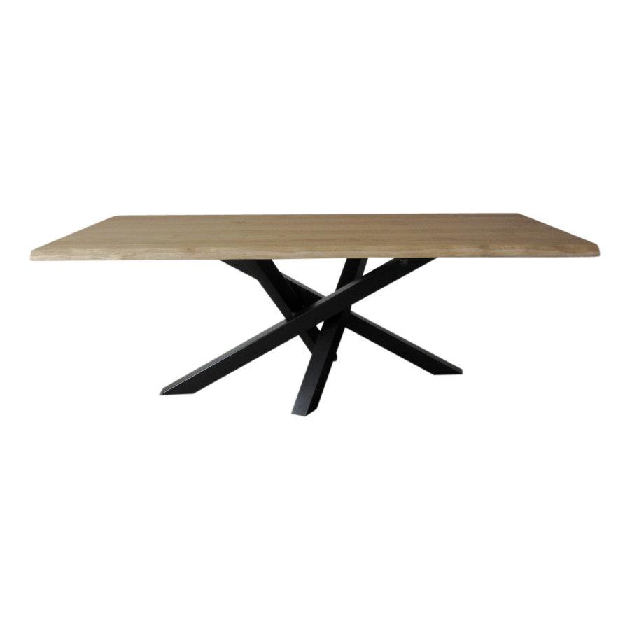 Industriële tafel voorzien van tafelonderstel Twist tafelpoot