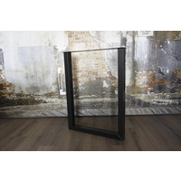 Stalen U BAR (salon)tafelpoot 8x6 zwart / wit