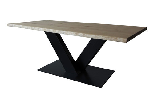 Industriële tafel met tafelonderstel V tafelpoot