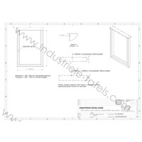 Industriële U BAR tafelpoot 8x6 zwart / wit