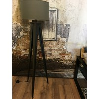 Industriële stalen driepoot lampvoet