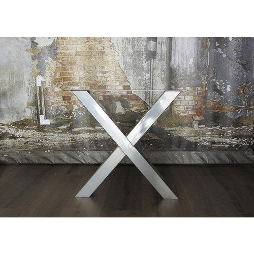 Chromen tafelpoten X standaard