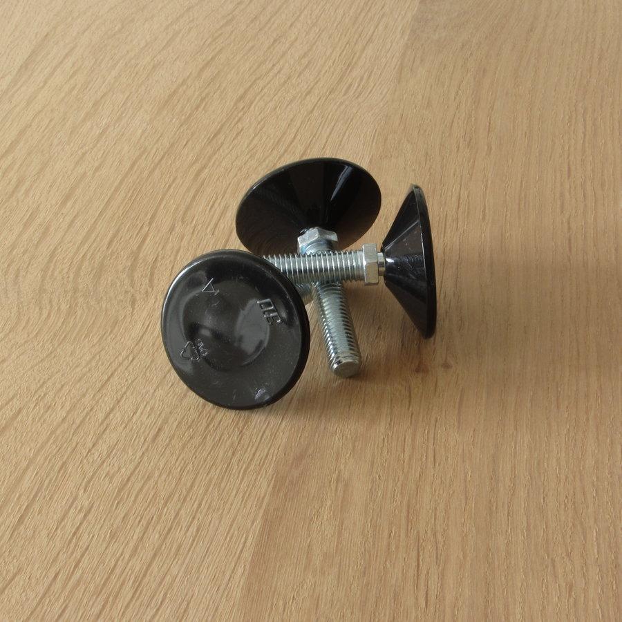 Stalen twist rond tafelpoot 12x12 zwart