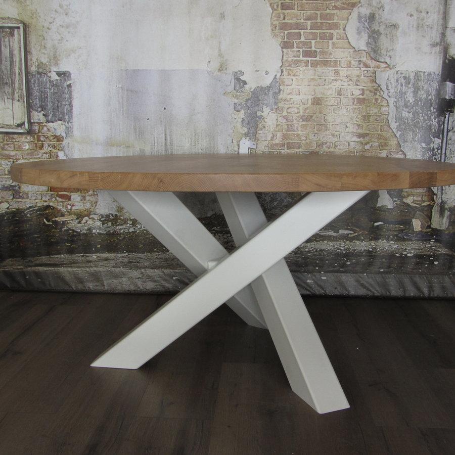 Stalen twist rond tafelpoot 12x12 wit