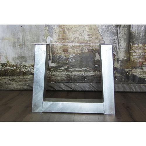 Tafelonderstel trapezium tafelpoot Zwaar - VERZINKT