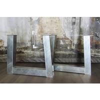 Handgemaakt Industrieel tafelonderstel Trapezium poot Zwaar - VERZINKT