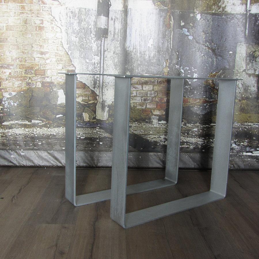Handgemaakt Industrieel tafelonderstel Strip tafelpoot Zwaar - VERZINKT
