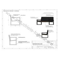 Los stalen loungebank frame / loungestoel frame wit
