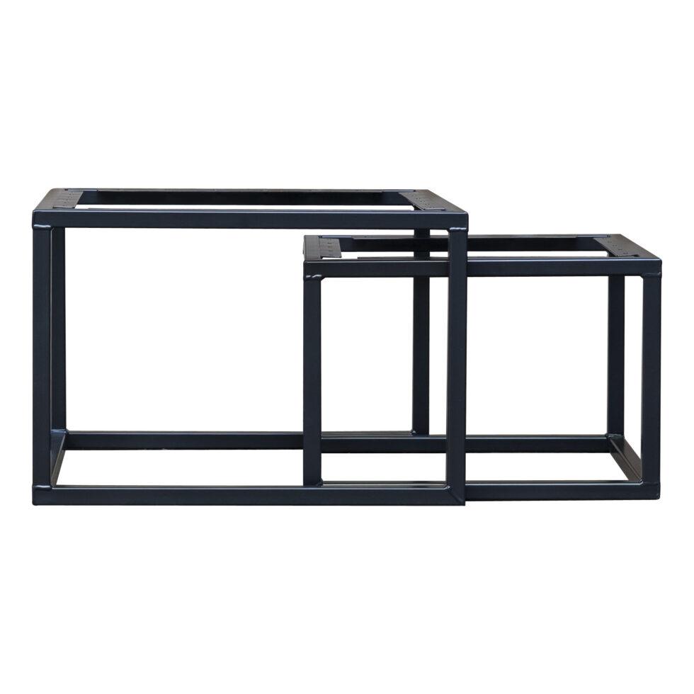 Industriele tafels stalen vierkante salontafelset frame