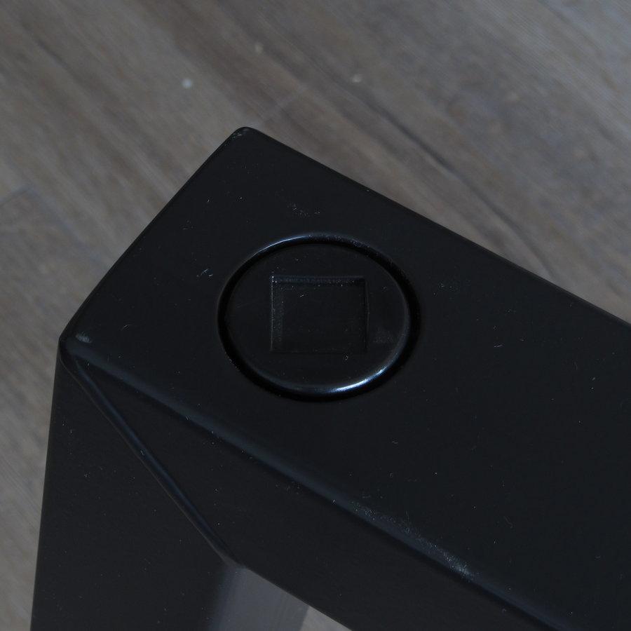 Stalen tafelpoot Criss-Cross zwart