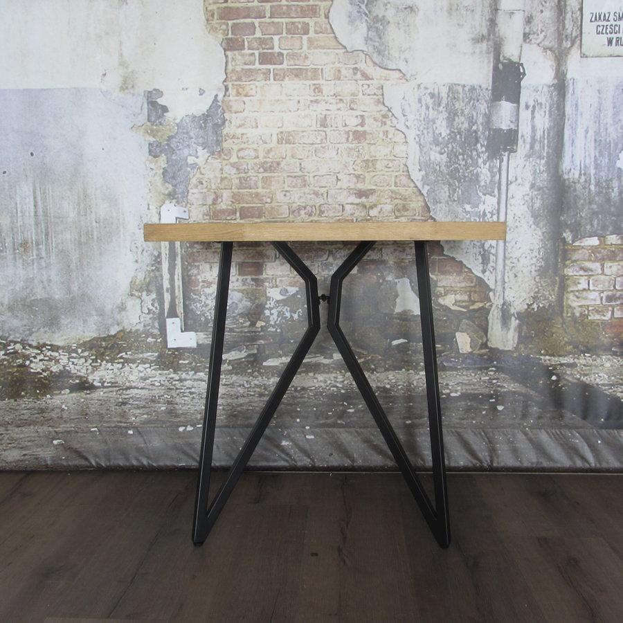 Handgemaakt Industrieel tafelonderstel Butterfly poot zwart