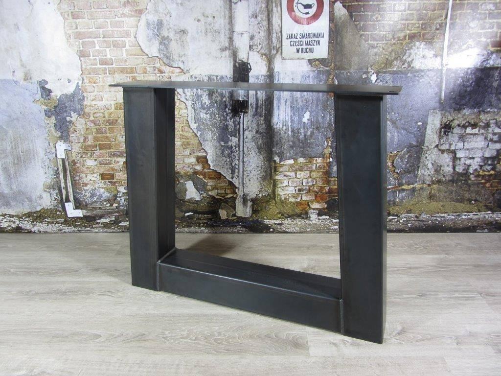 Industrieel Tafel Onderstel : Industriële tafelpoten model trapezium zwaar industriele tafels