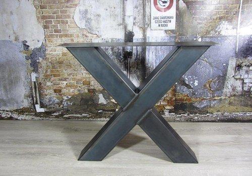 Tafelonderstel X kruispoot Zwaar Transparant