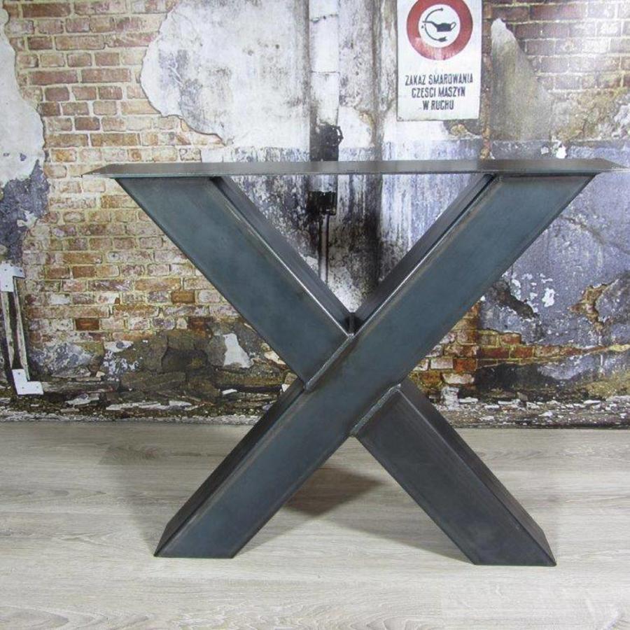 Welp Handgemaakte industriele tafelpoten, model X Kruispoot AO-42