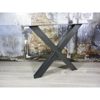 Handgemaakt Industrieel tafelonderstel X tafelpoot / kruispoot Standaard