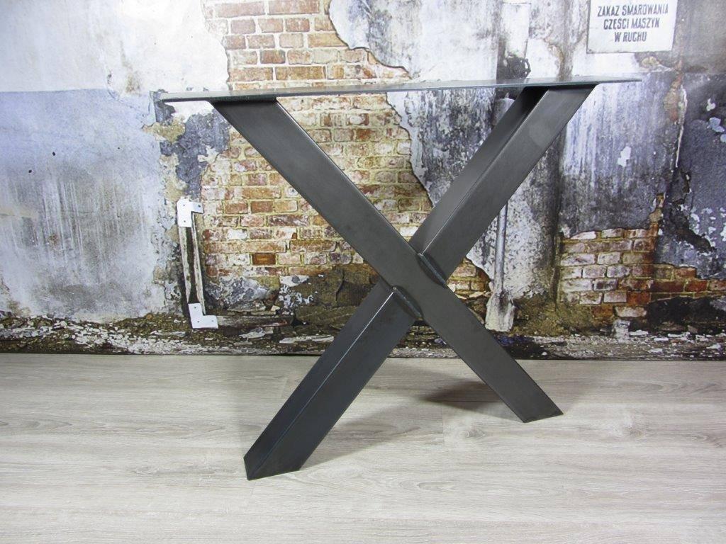 Industrieel Tafel Onderstel : Handgemaakte industriele tafelpoten model x industriele tafels