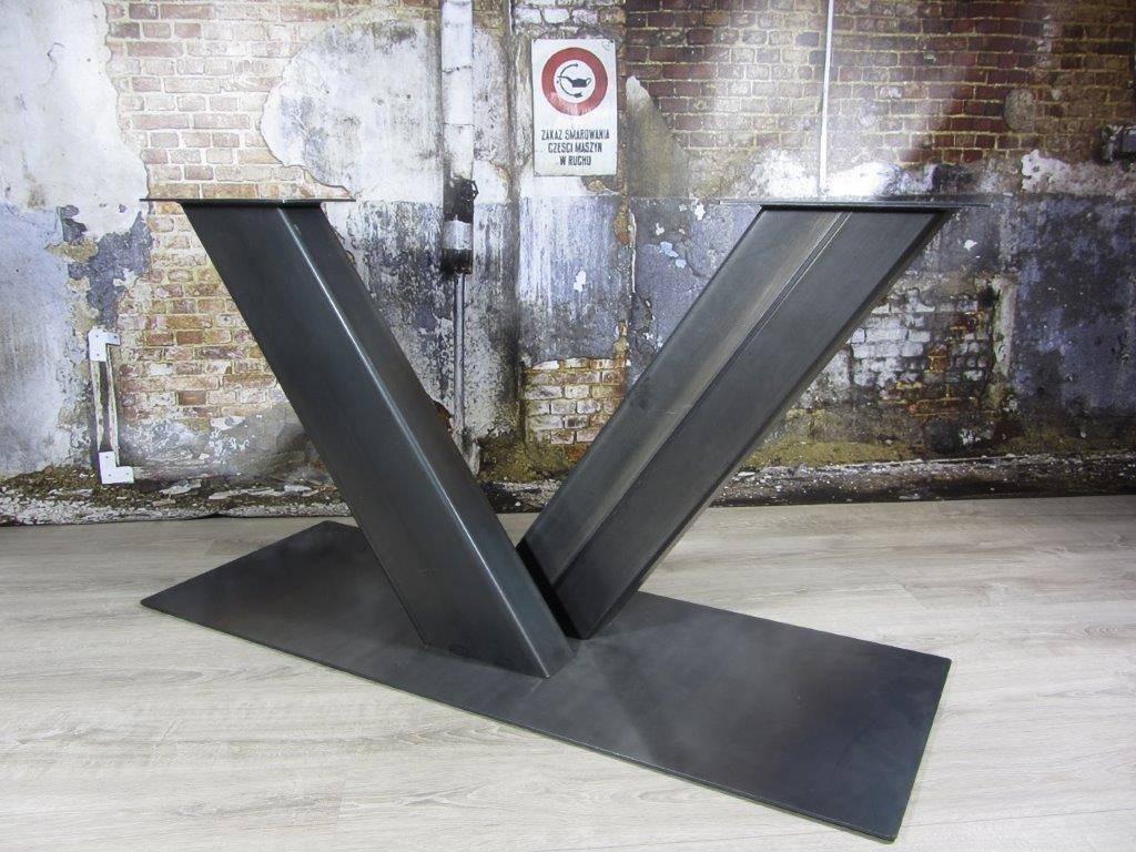 Industrieel Tafel Onderstel : Industrieel tafelonderstel v poot industriele tafels