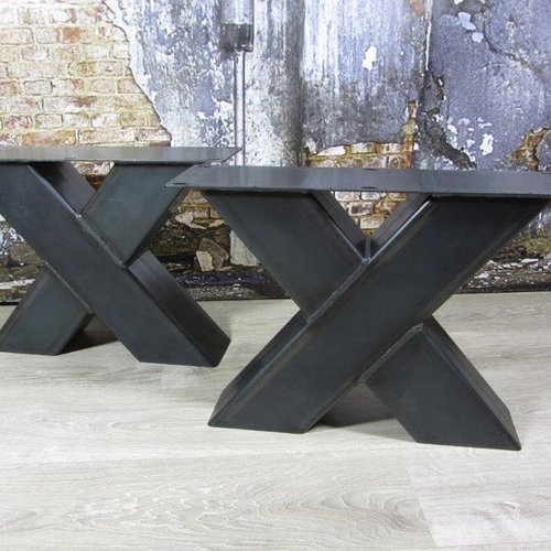Zware industriele salontafel poten