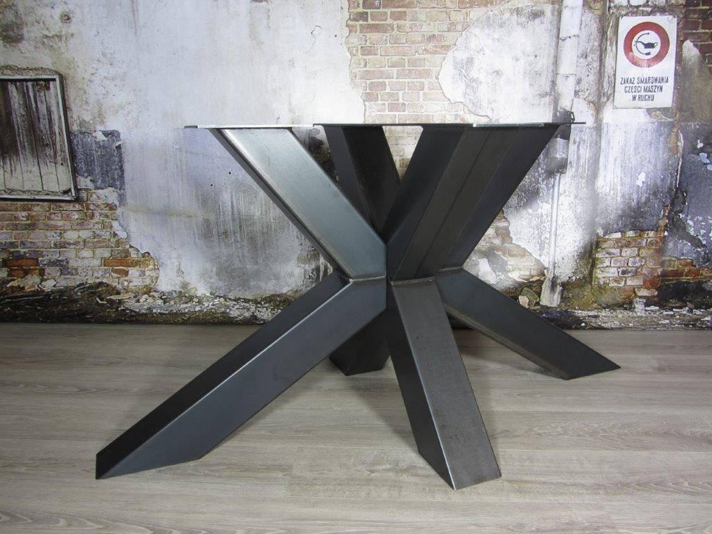 Handgemaakte industriele tafelpoten model matrix d kruispoot