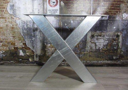 Tafelonderstel model X Kruispoot Zwaar - VERZINKT