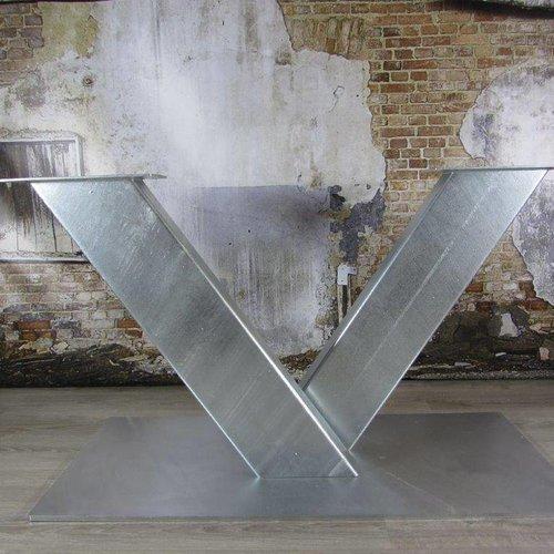 Zware industriële tafelpoten verzinkt (binnen- en buitengebruik)