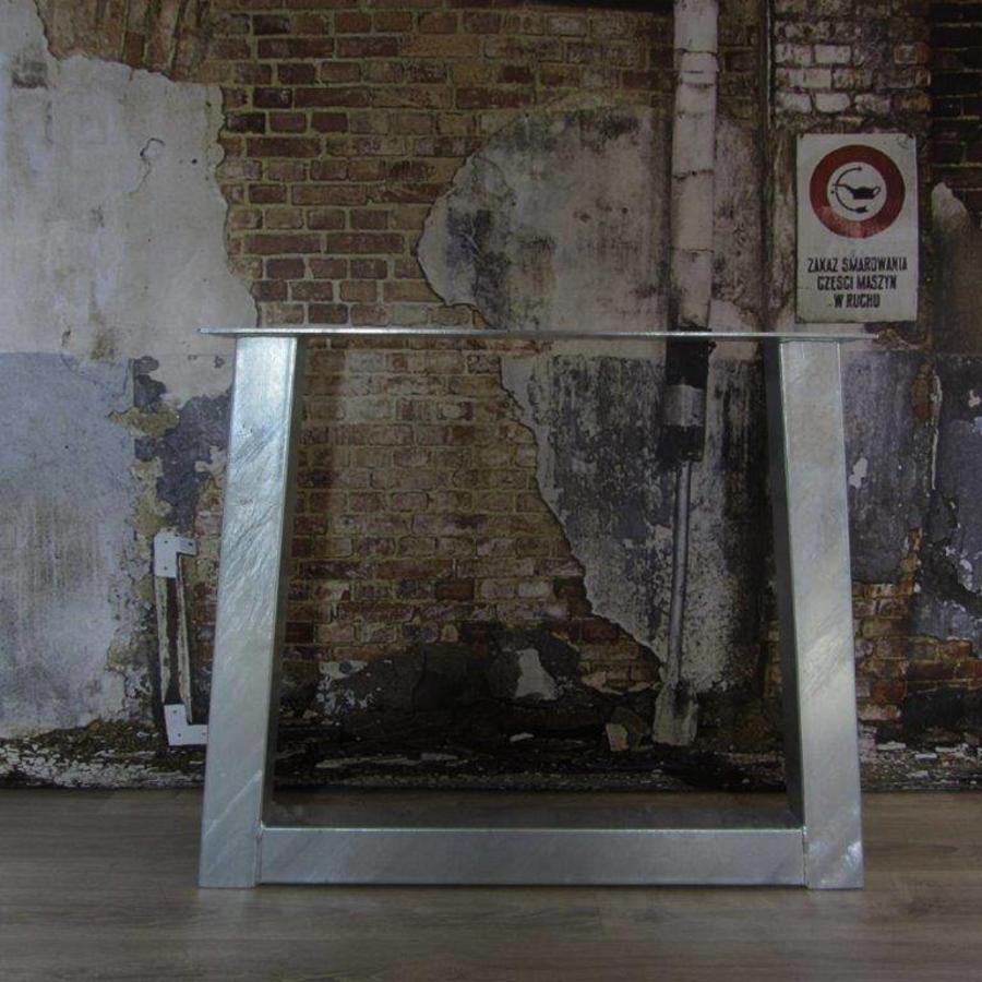 Handgemaakt Industrieel tafelonderstel Trapezium poot Standaard - VERZINKT