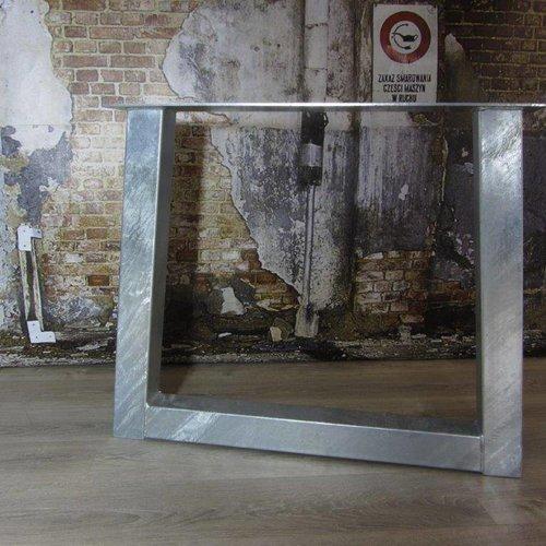 Standaard industriele tafelpoten verzinkt (binnen- en buitengebruik)