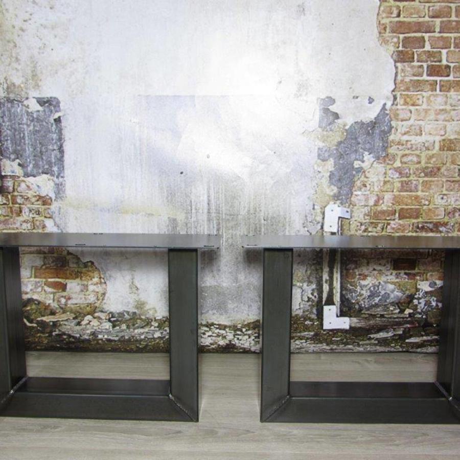Handgemaakt industrieel salontafel onderstel U poot Standaard