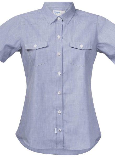 Bergans BERGANS Justøy Lady Shirt SS - Chambray Blue