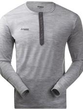 Bergans BERGANS Mens Henley Wool Shirt - Grey Melange