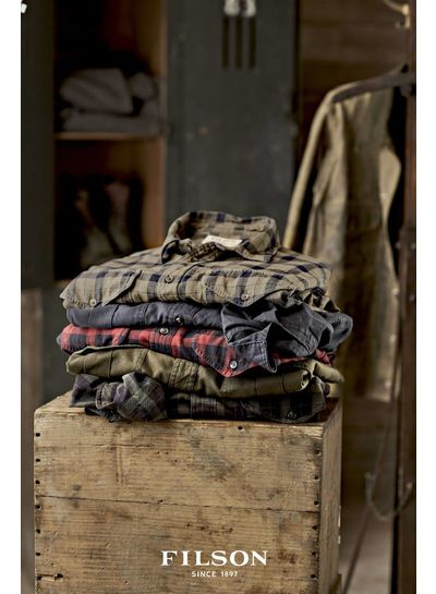 FILSON  FILSON Western Flannel Shirt - Faded Black