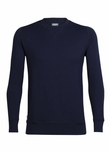 Icebreaker  ICEBREAKER Mens Shifter Long Sleeve Crewe Merino - Midnight Navy