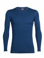Icebreaker  ICEBREAKER Mens Tech Top Long Sleeve Crewe Merino - Largo