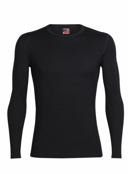 Icebreaker  ICEBREAKER Mens Tech Top Long Sleeve Crewe Merino - Black
