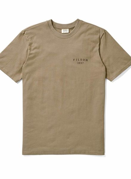 FILSON  FILSON Outfitter SS Graphic T- Shirt - Rugged Tan