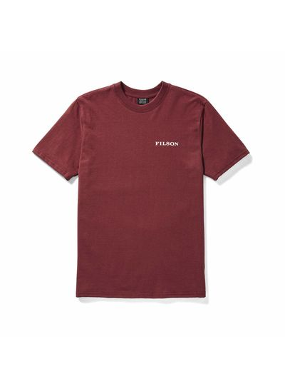 FILSON  FILSON Outfitter SS Graphic T- Shirt -  Burnt Red