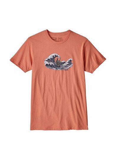 Patagonia  Patagonia Mens Oily Olas Organic Cotton T-Shirt - Quartz Coral