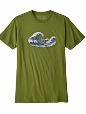 Patagonia  Patagonia Mens Oily Olas Organic Cotton T-Shirt - Sprouted Green
